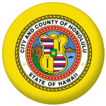 Honolulu (Hawaii) Flag 58mm Fridge Magnet